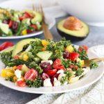 Greek Kale Salad with Avocado