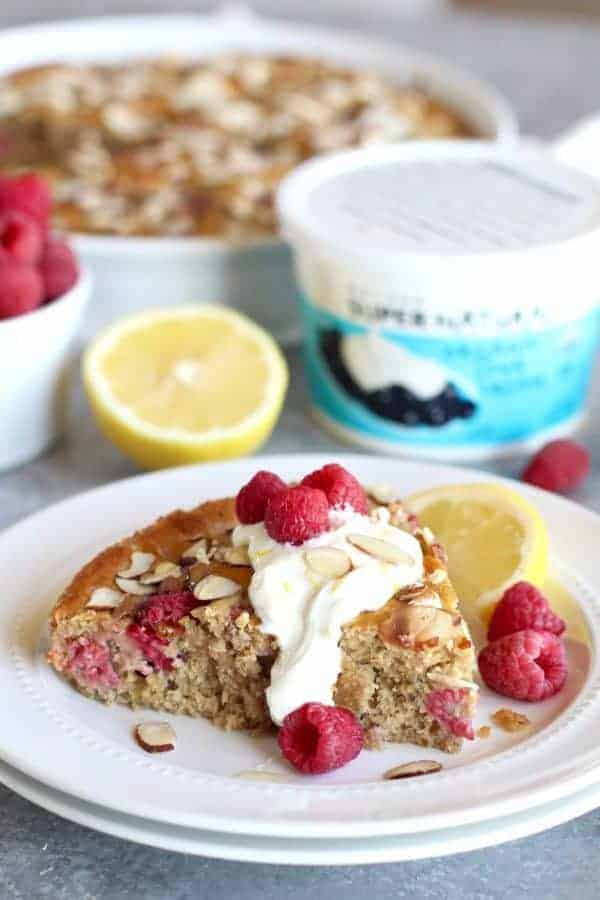 Gluten-free Raspberry Lemon Coffee Cake | The Real Food Dietitians | http://therealfoodrds.com/raspberry-lemon-coffee-cake/