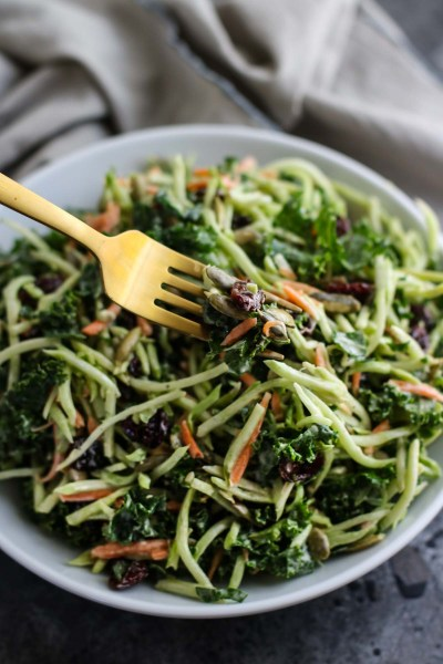 Creamy Broccoli Slaw | The Real Food Dietitians | https://therealfoodrds.com/creamy-broccoli-slaw/