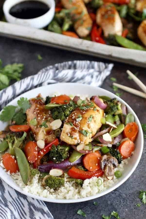 One-Pan Teriyaki Chicken Veggie Bake