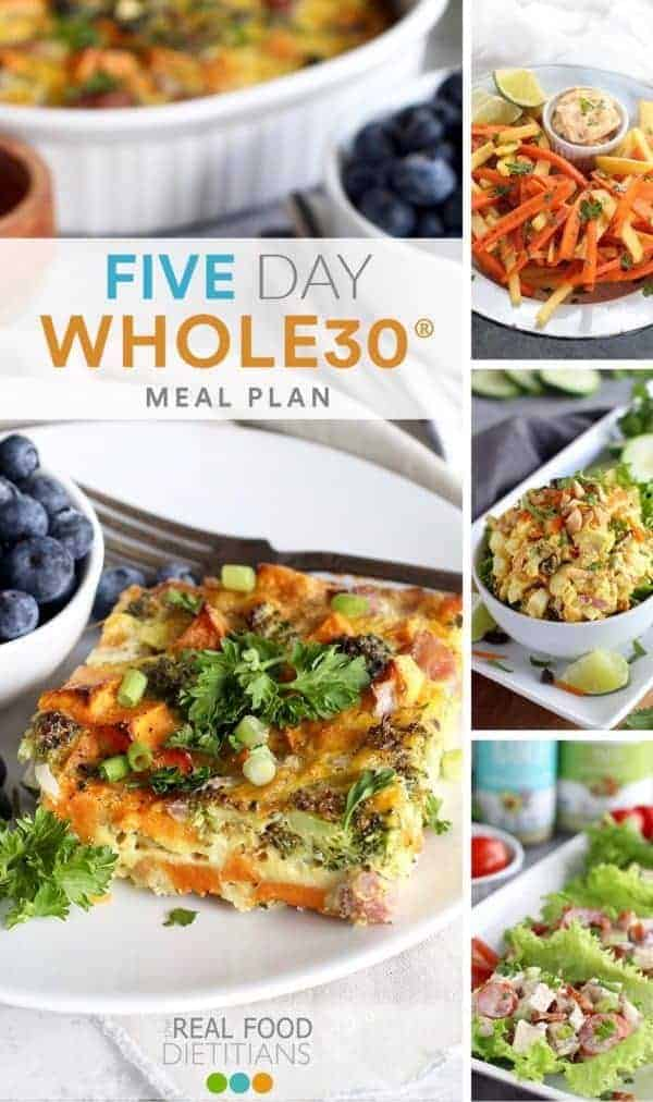 five day Whole30 meal plan