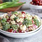 Broccoli-Cauliflower Salad (Whole30)