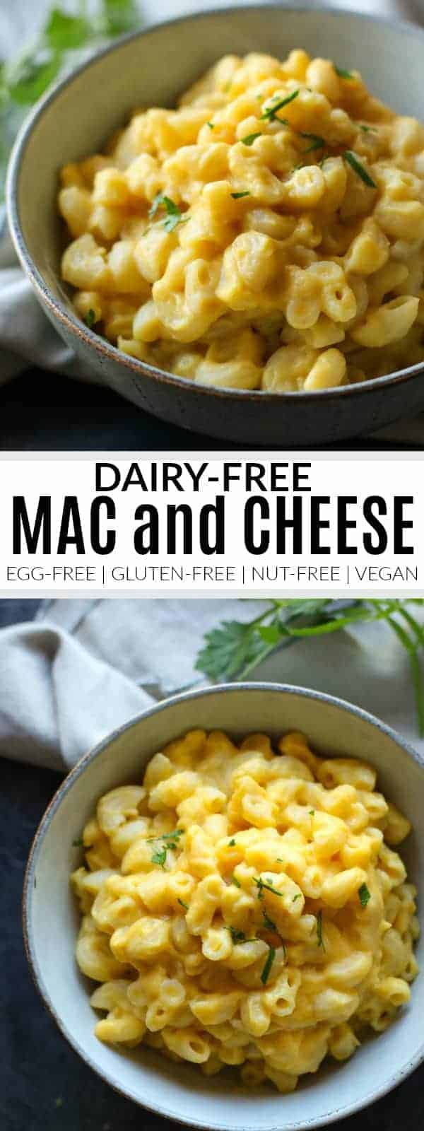 Dairy-free Mac and Cheese | egg free macaroni and cheese | gluten-free macaroni and cheese | nut-free macaroni and cheese | vegan macaroni and cheese | healthy macaroni and cheese || The Real Food Dietitians #macandcheese #dairyfreepasta #glutenfreesides