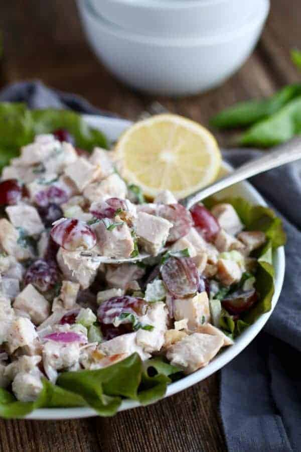 The Best Waldorf Chicken Salad (Whole30) | homemade chicken salad recipe | healthy chicken salad recipe | whole30 chicken recipes | whole30 chicken salad recipe | gluten-free chicken salad recipe | dairy-free chicken salad recipe | paleo chicken salad recipe || The Real Food Dietitians