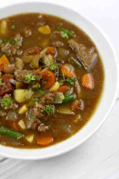 Slow Cooker Beef Stew | 30 Whole30 Soups, Stews & Chilis | healthy soup recipes | whole30 meal ideas | whole30 recipes | whole30 chili recipes || The Real Food Dietitians #whole30soups #whole30recipe #whole30meals