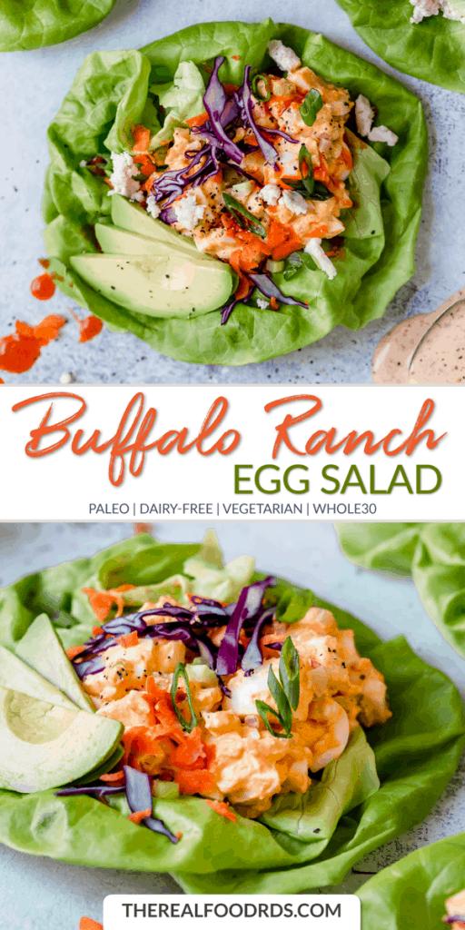 Long Pin Image for Buffalo Ranch Egg Salad