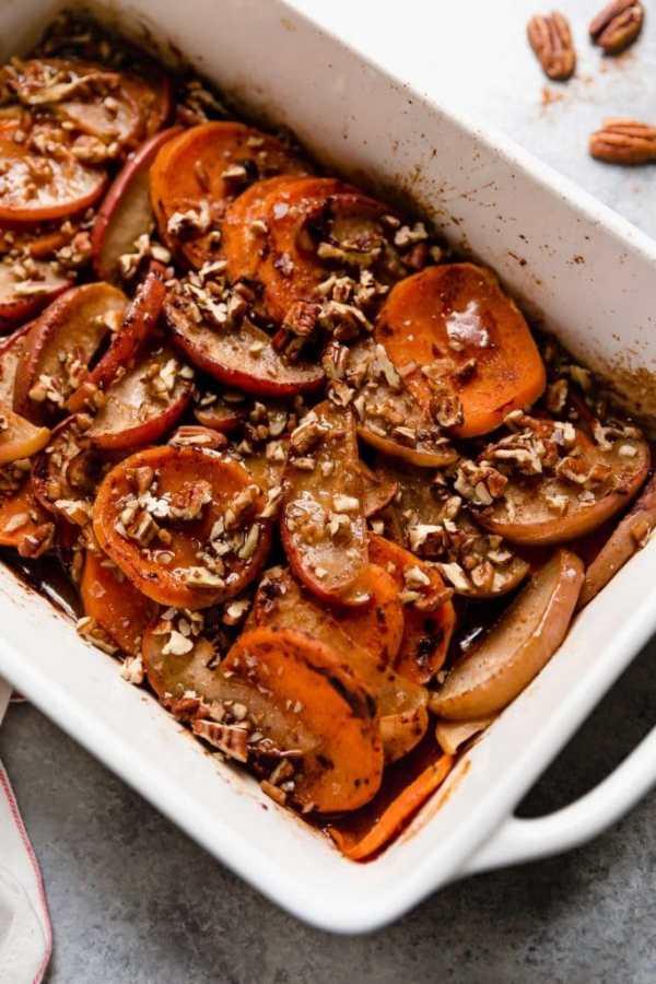 Cinnamon Apple Sweet Potato Bake