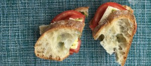 Tomato and Basil Sandwich with Brie