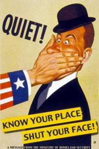 Know Your Place Shut Your Face