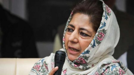 Mehbooba Mufti detained under house arrest before her visit to Budgam's Gujar areas against Govt's eviction drive