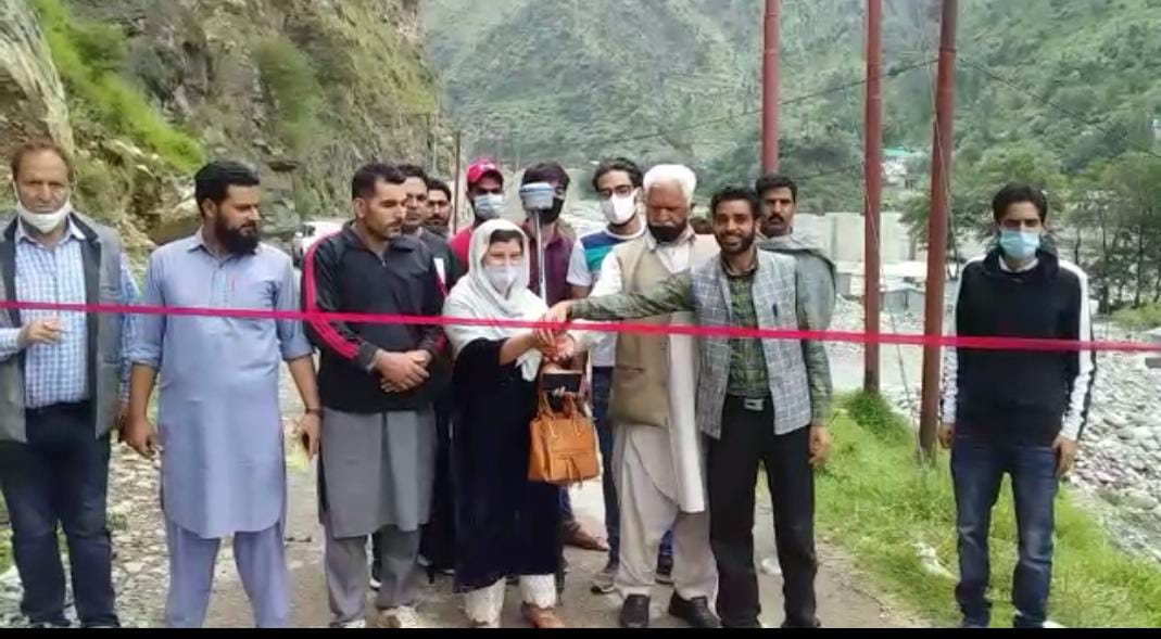 Sarpanch Inaugurated Work of Road in Surankote Poonch