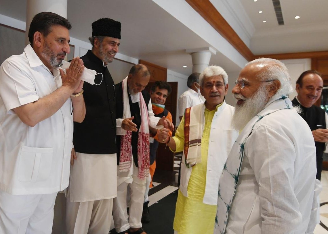 Solution to J&K Problems lies in Democratic Set-Up: Altaf Bukhari in PM's All Party Meet