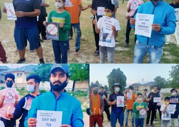 Youth of shopian led by Social Activist Adv Owais khan Staged a Peaceful Protest at Sports Stadium Shopian