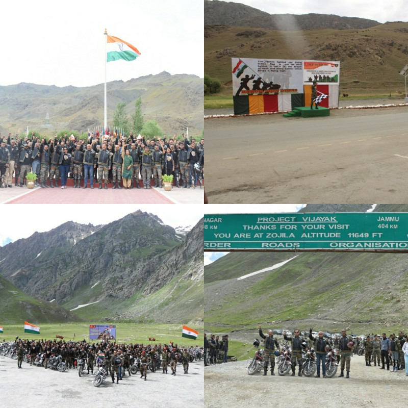 Army Brass on bikes' Converge on Kargil War Memorial