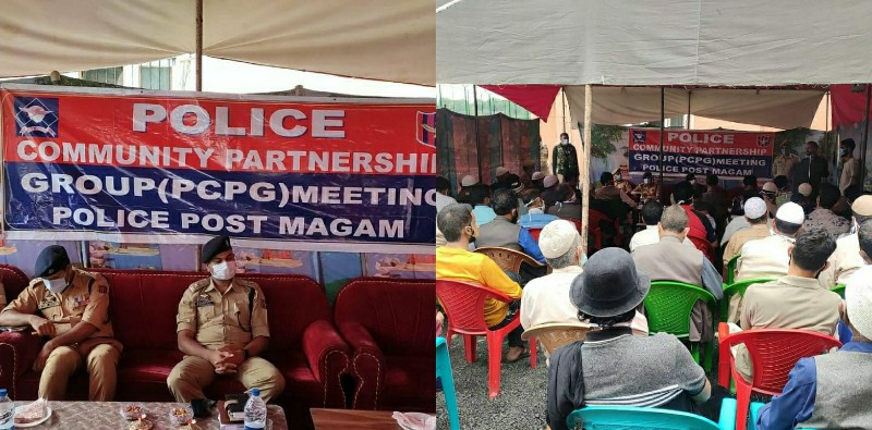 Handwara Police held a Police Community Partnership Group (PCPG) meeting at Police Post Magam