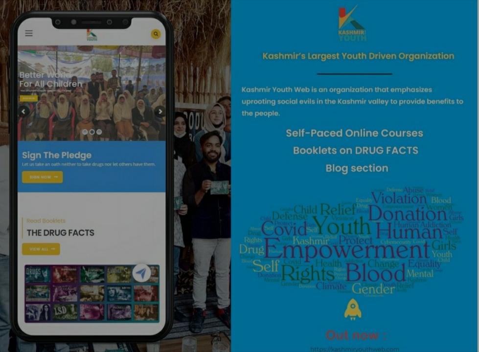 Jammu Kashmir's largest youth driven organization launches a multi-resource. website, kashmiryouthweb