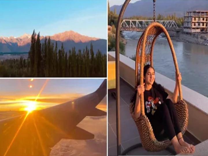 Bollywood Actress Sarah Ali Khan visits Ladakh for holiday