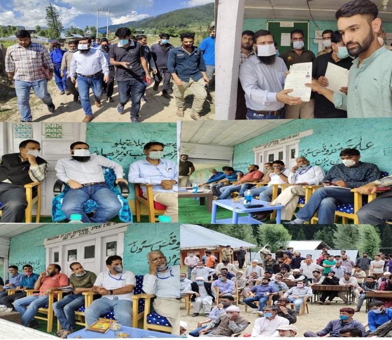 DC Kupwara visits Budnambal, Reviews Development Profile