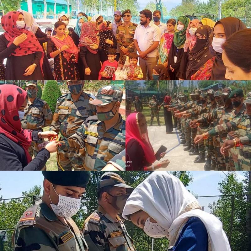 Women from Kupwara celebrate Rakshabandhan with Army Jawans from Kupwara Terriers