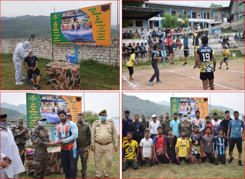 Indian Army unit Doda BN organised volleyball tournament at Chandak to celebrate National sports Day