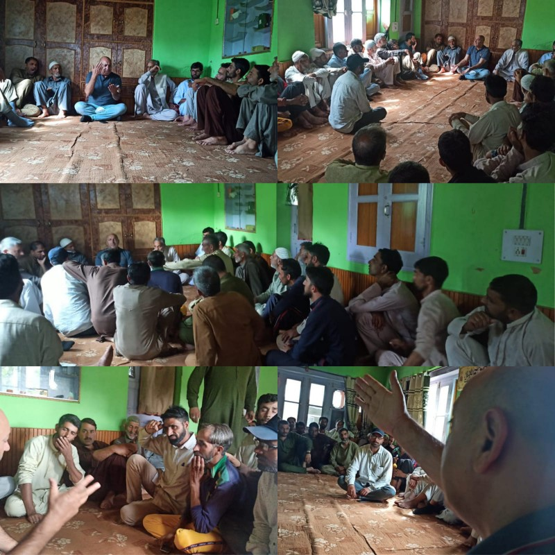 Apni Party Workers Meeting Held In Quil Area Bandipora.