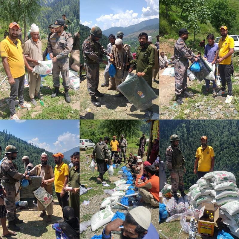 Community Work & Household Essentials Distribution to poor families in Nunwani and Gurdaji of Kupwara by Army & Goonj Foundation