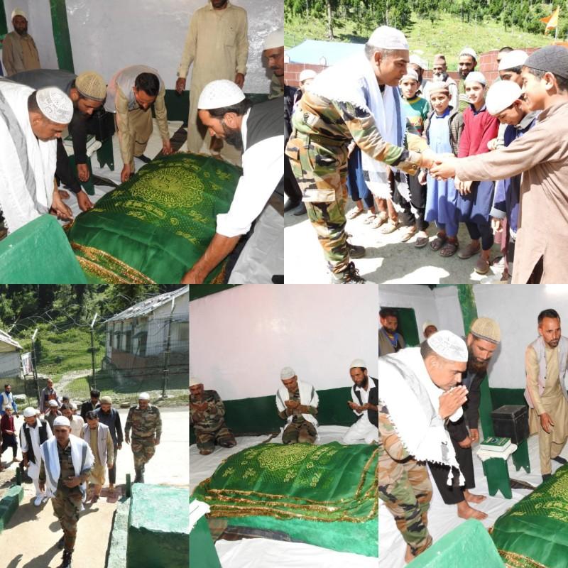 Peer Baba Day was celebrated at Machhal Garrison