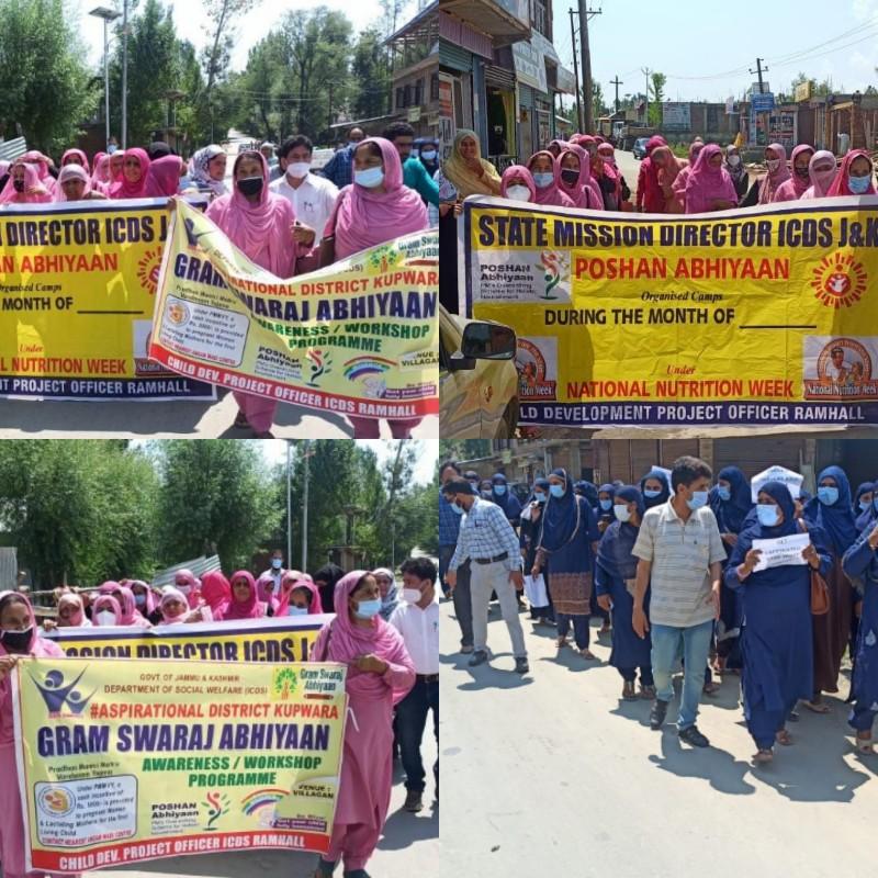 Azadi ka Amrut Mahotsav' COVID awareness rally held in Vilgam, DIC Kupwara coordinates