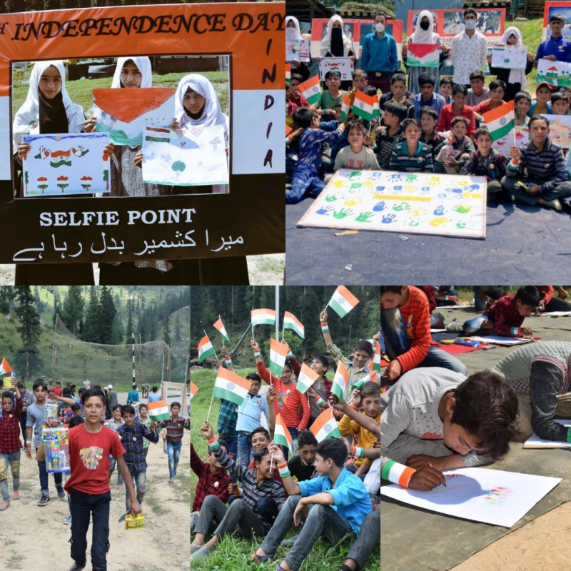 Indian Army Organises Painting competition for Macchal Village Childrens in Border Areas
