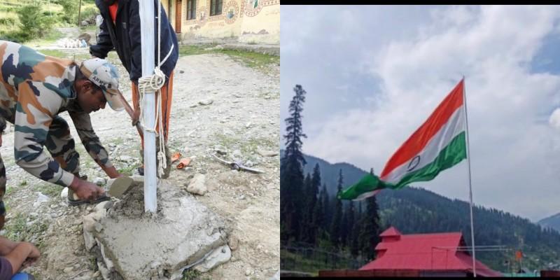Hoisting of National Flag in Machhal Kupwara