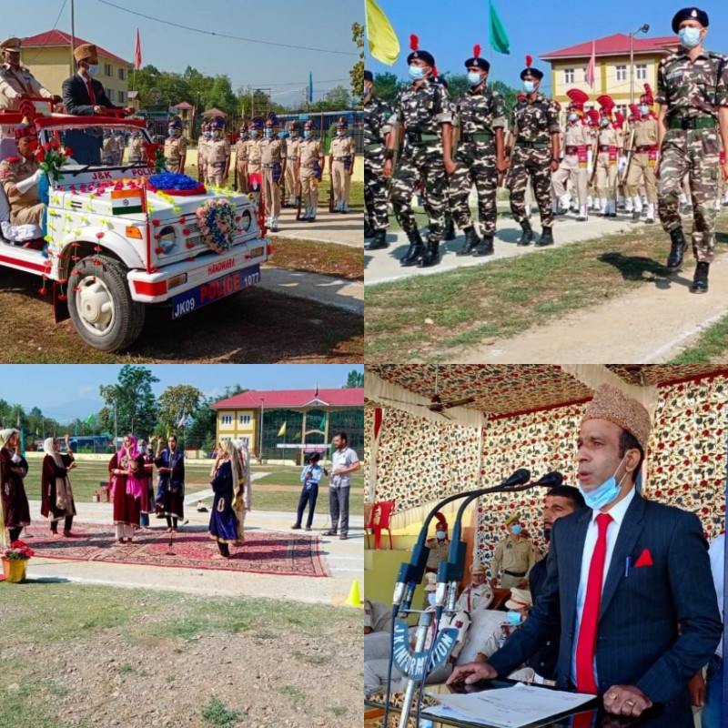 Full dress rehearsal for the Independence Day 2021 was held at DPL Handwara.