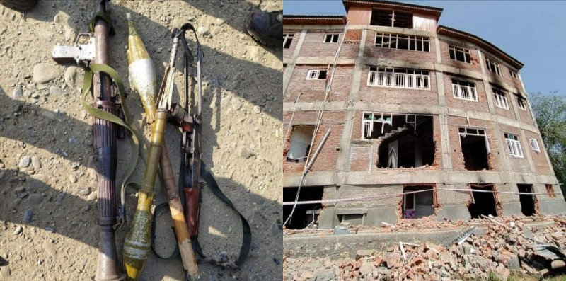 Police and Army used rocket launcher during a gunfight with militants, 2 Drones Destroyed By Militant During Kulgam Gunfight : IGP Vijay Kumar