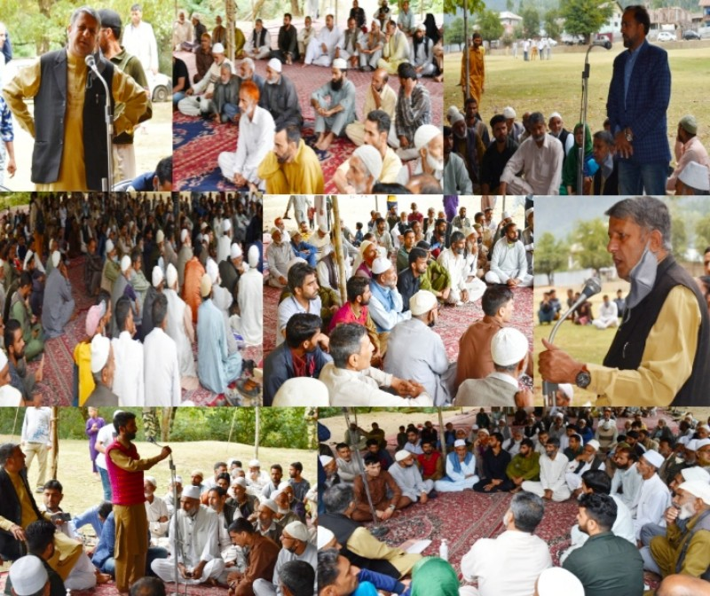 VC-DDC Kupwara holds Public Darbar at Cheepora Lolab Assures people for redressal of their developmental issues
