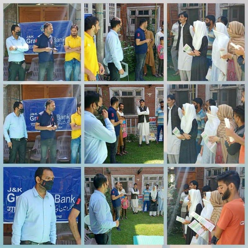 Grameen Bank Handwara organizes an Awareness program on Social Security Schemes