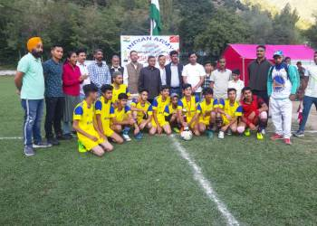 Inter School Football Tournament held in Tangdhar Kupwara