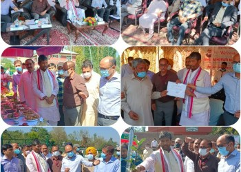Union Food Processing Industries Minister Visits B'la; Interacts with Fruit Growers, Inspects High Density Orchards