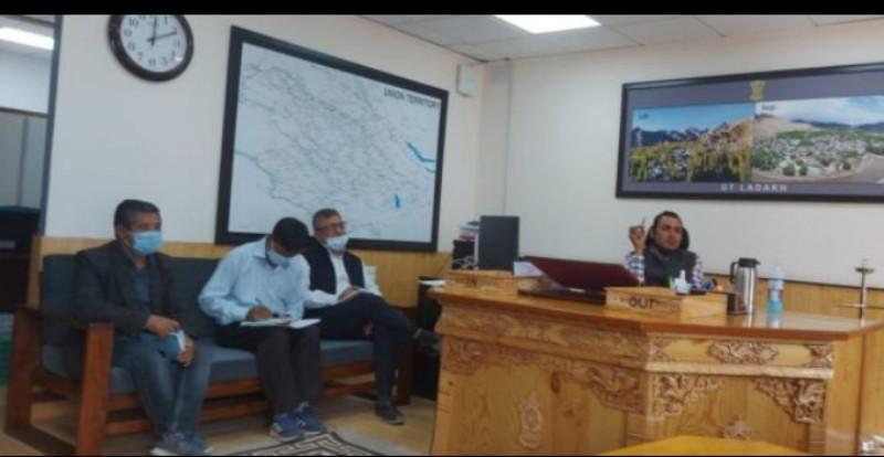 Secretary Power reviews issues of PDD with Wildlife, Forest Dept at Civil Secretariat, Leh, UT Ladakh.