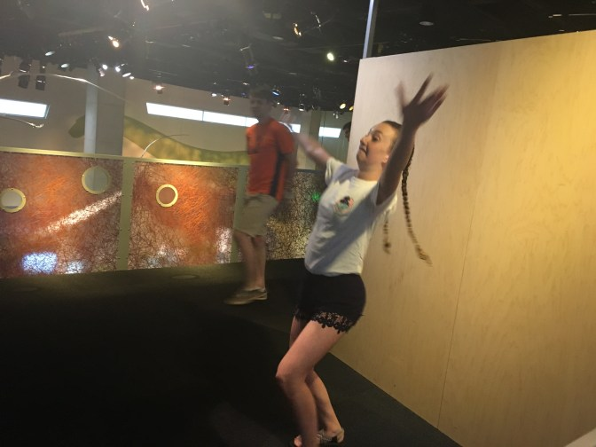 Gillian flying like a bird