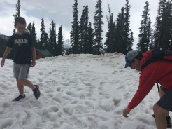Karl & David having a snow ball fight