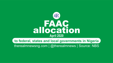 Photo of FAAC disbursements for April 2020