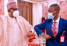 Photo of Buhari meets new EFCC chairman, Abdulrasheed Bawa, in Aso Rock