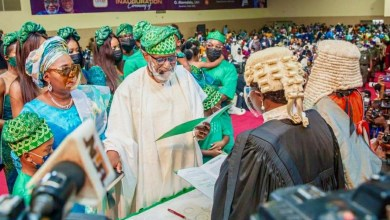 Photo of Ondo: Akeredolu sworn in for second term, promises to crush insecurity