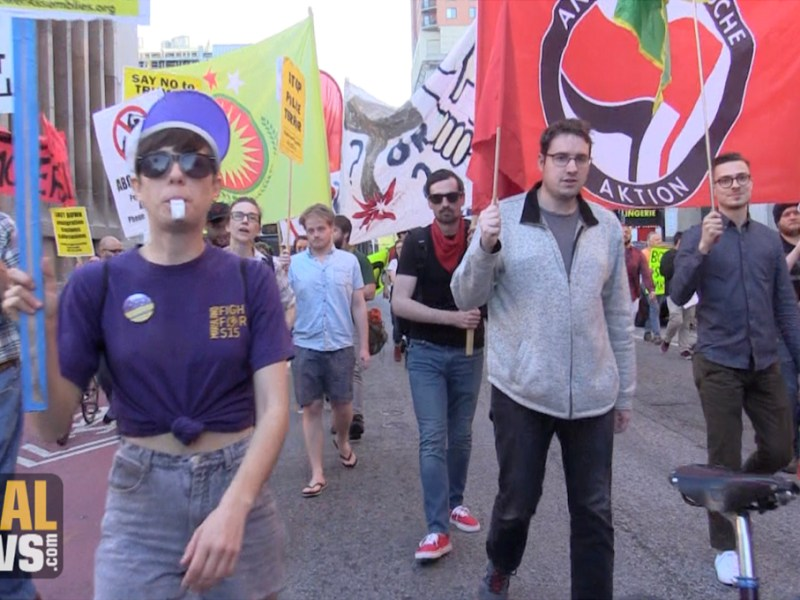 Protesters Rail Against Police, Poverty in Baltimore May Day March