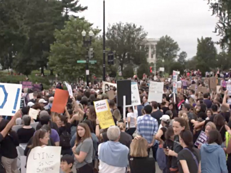 "Hundreds Rally to ""Cancel Kavanaugh"" Hours Before His Confirmation"