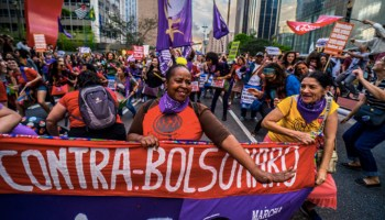 Brazilian Students Protest Police Raids Ahead of Presidential Election