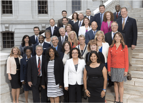 Crider pictured with 2015 BILLD graduates, fifth row, right side, bald; Photo Credit: Council of State Governments