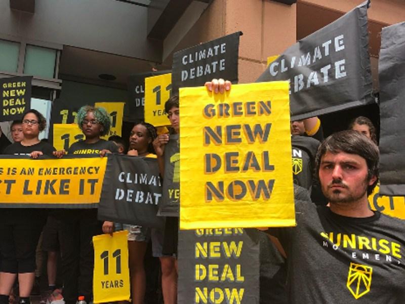 Sunrise Sits In at DNC Headquarters, Demanding Climate Debate
