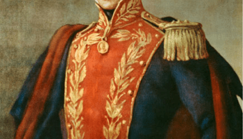 Simon Bolivar, El Libertador, Early 19th century South American who, along with Jose de San Martin, lead Latin America in the war of independence from The Spanish Empire. Bolivar is the symbol of Hugo Chavez's Bolivarian Revolution of the 21st century. Photo Wikipedia.