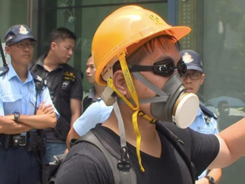 Hong Kong Marks Anniversary With Ceremonies and Protests