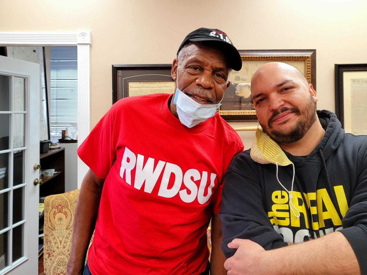 Danny Glover and TRNN Editor-in-Chief Maximillian Alvarez